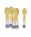 Navy Stripe Ice Cream Spoons