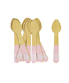 Soft Pink Stripe Ice Cream Spoons