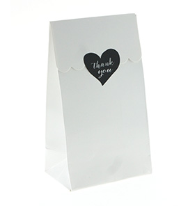 White Gloss Treat Bag