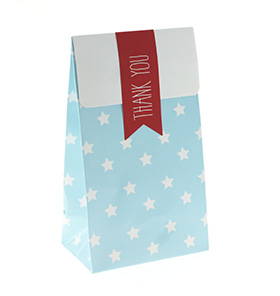 Blue with White Star Gloss Treat Bag