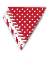 Red Spots and Stripes Party Bunting