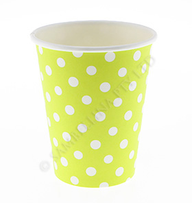 Polkadot Lime Cups