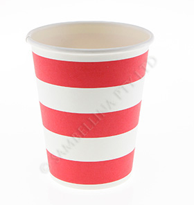 Candy Stripe Red Cups