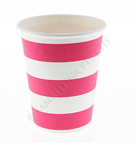 Candy Stripe Raspberry Cups