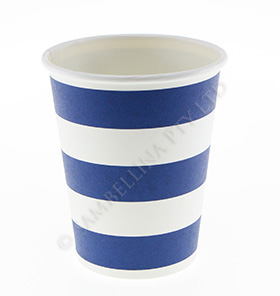 Candy Stripe Navy Cups