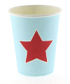 Blue with Red Star Cups