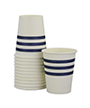 Navy French Stripe Cups