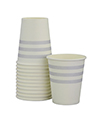 Grey French Stripe Cups