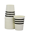 Black French Stripe Cups