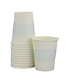 White with Soft Blue Stripe Cups