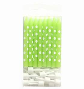 Polkadot Lime Candles
