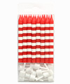 Red Candystripe Candles