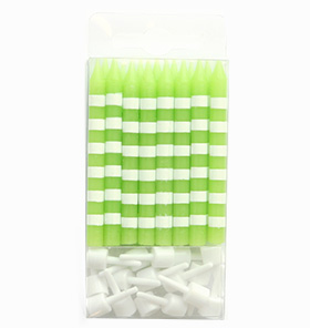 Lime Candystripe Candles