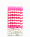 Raspberry Candystripe Candles