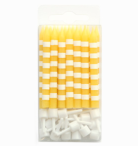 Yellow Candystripe Candles