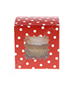 Red Polkadot Cupcake Box