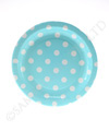Blue with White Polkadots Cake Plate
