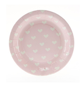 Pink Sweethearts Cake Plate