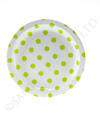 White with Lime Polkadots Cake Plate