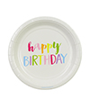 Rainbow Happy Birthday Cake Plates