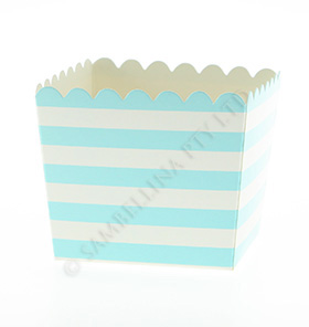 Blue Stripe Scallop Favour Box