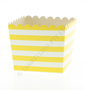 Yellow Stripe Scallop Favour Box