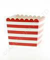 Red Stripe Scallop Favour Box