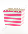 Raspberry Stripe Scallop Favour Box