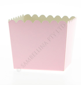 Pink Scallop Favour Box