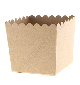 Kraft Scallop Favour Box