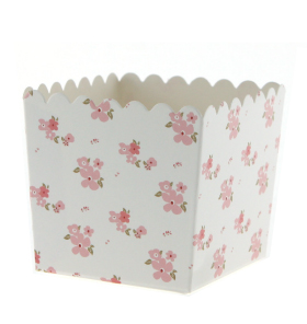 White Floral Favour Box