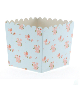 Blue Floral Favour Box