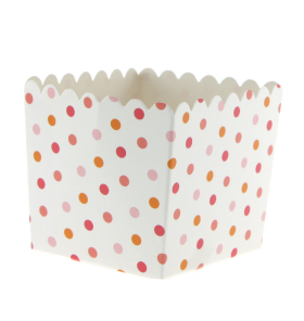 Summer Peach Polkadot Favour Box