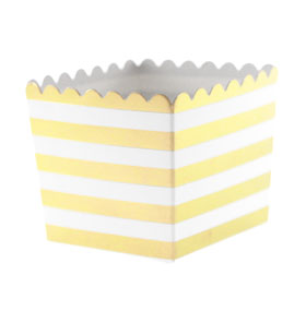 Gold Foil Stripe Scallop Favour Box