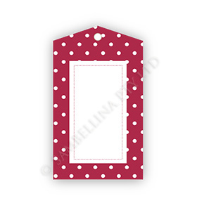 Polkadot Red GiftTags