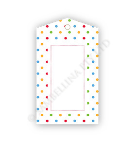Polkadot Multi-Coloured  GiftTags