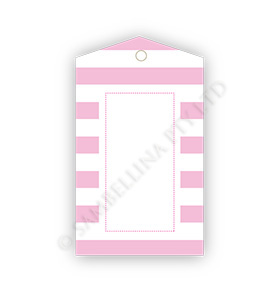 Candy Stripe Pink GiftTags