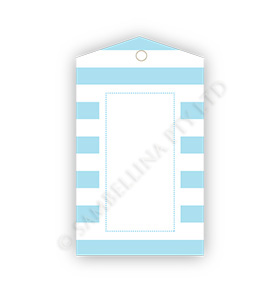Candy Stripe Blue GiftTags