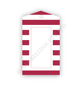 Candy Stripe Red GiftTags