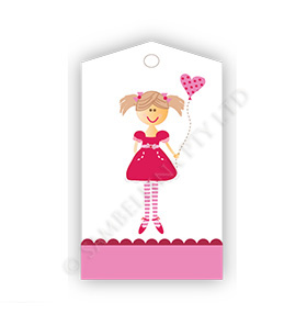 Pink Bunting GiftTags
