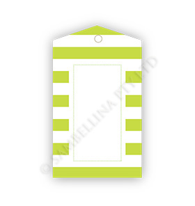 Candy Stripe Lime Gift Tags
