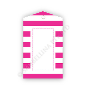 Raspberry Candy Stripe Gift Tags