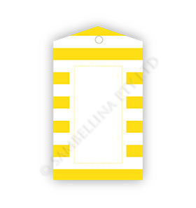 Yellow Stripes Gift Tags