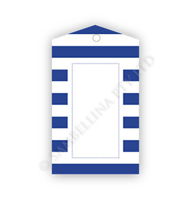 Navy Candy Stripe Gift Tags