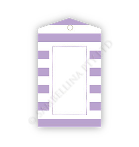 Lavender Candy Stripe Gift Tags