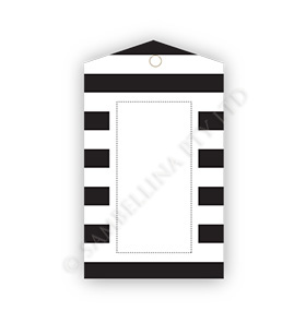 Black Candy Stripe Gift Tags