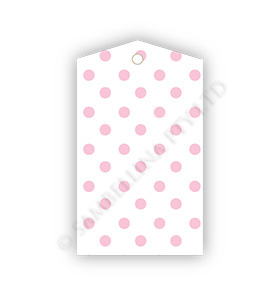White Pink Dot Gift Tags