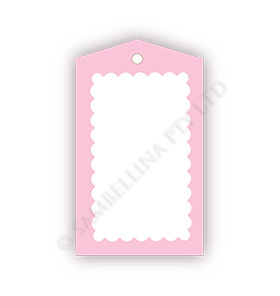 Scallop Pink Gift Tags