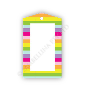 Rainbow Stripes Gift Tags