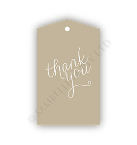 Thank You Kraft Gift Tags
